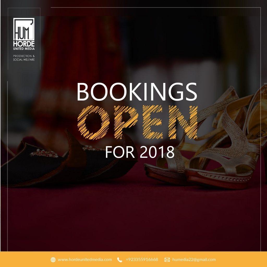 Bookings open post design