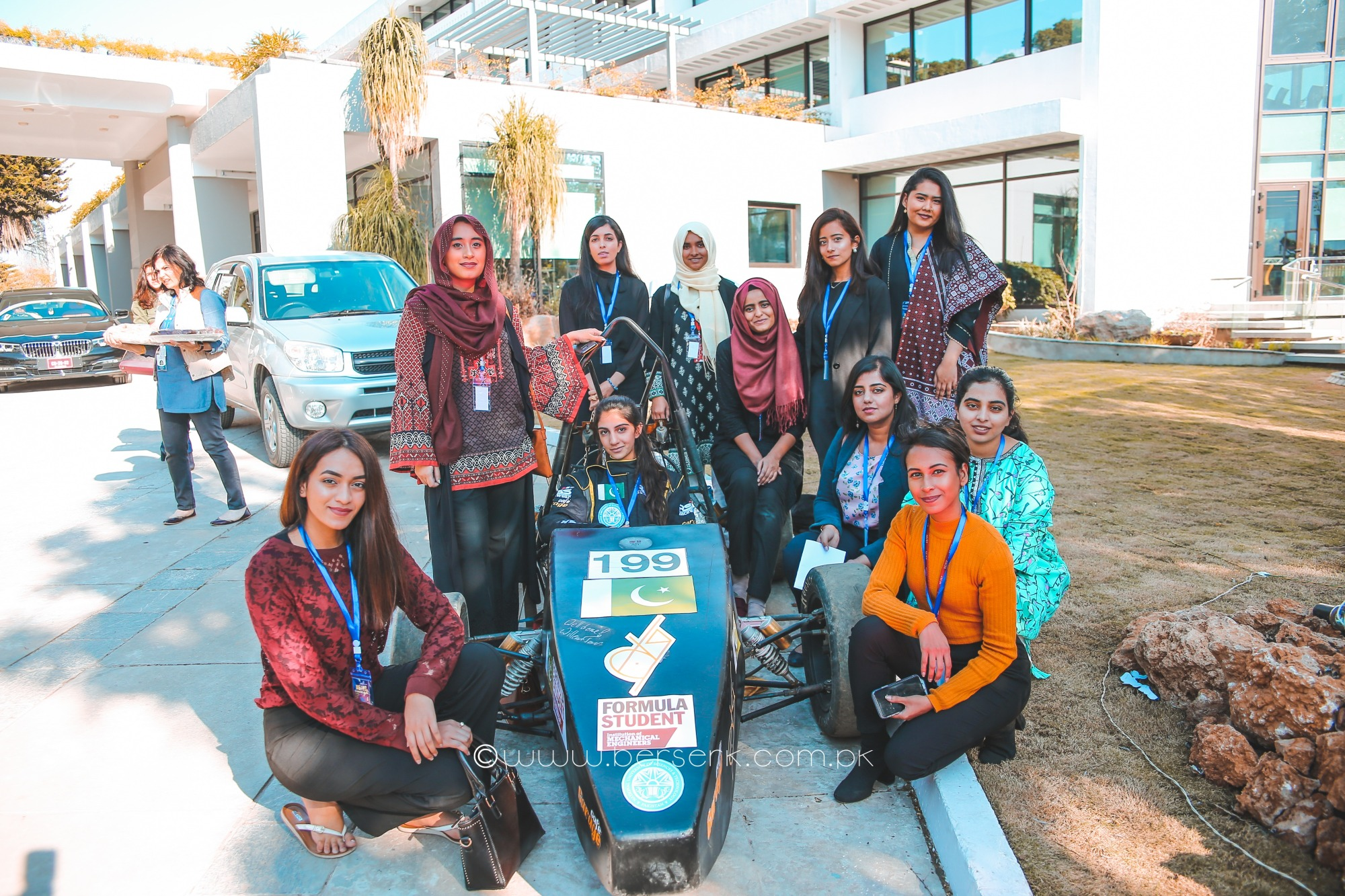 Team Auj Nust Formula 1 Car at World Bank Group Pakistan