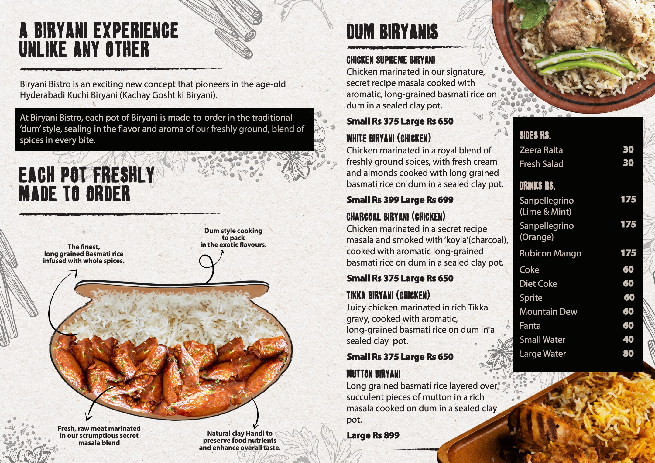 restaurant Menu design back
